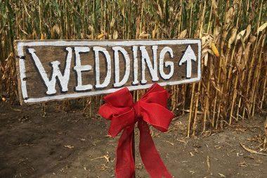 Esküvői illemtan, esküvői irányító tábla a vendégeknek