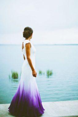 Ombre esküvői stílus