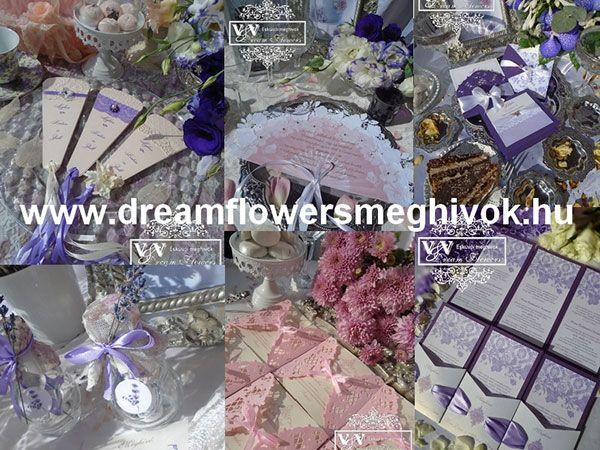 Dream Flowers Esküvői Meghívók